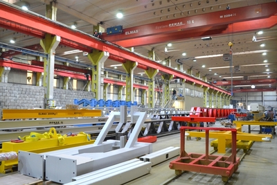 The biggest industrial cranes for loads of 150 and 360 tones, a premiere in the Brasov industry